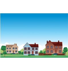 Suburb background vector