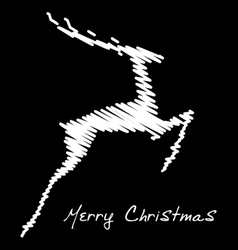 Hand drawn jump deer vector