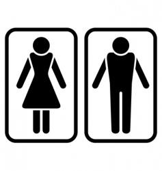 Male amp female symbol vector
