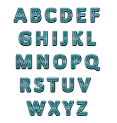 Metallic alphabet vector