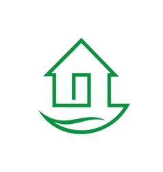 Eco home sign vector