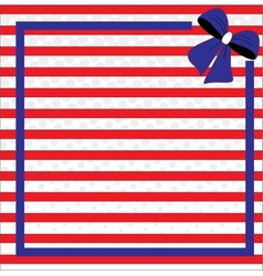 Patriotic background for fourth of july vector