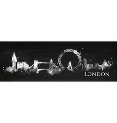 Silhouette chalk london vector