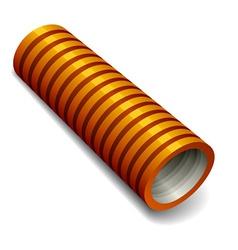 Orange plumbing corrugated tube vector