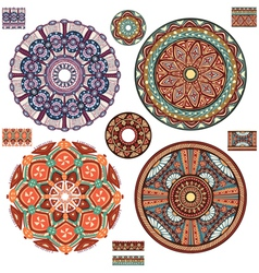 Round ornament patterns vector