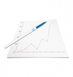 Graph with pen vector