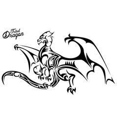 Tribal dragon vector