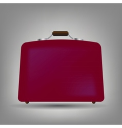 Blue suitcase icon vector