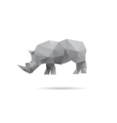 Rhino isolated on a white backgrounds vector