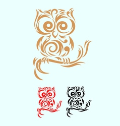 Owl ornate vector