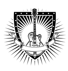 Guitar shield vector