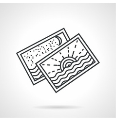 Seascape postcards line icon vector