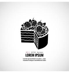 Dessert cakes bakery logo vector