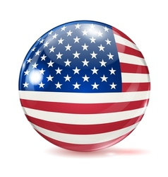 Flag of the united states in the form of ball vector