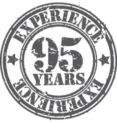 Grunge 95 years of experience rubber stamp vector