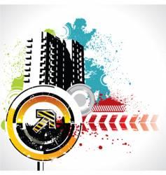 Grunge urban scene vector