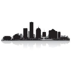 Milwaukee usa city skyline silhouette vector