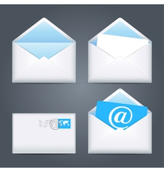 Envelopes icons set vector