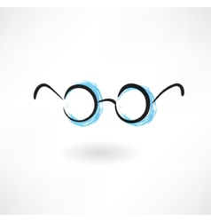 Eyeglasses grunge icon vector