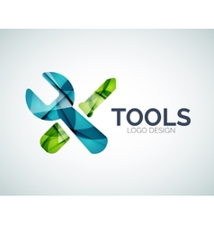 Tools icon logo design made of color pieces vector