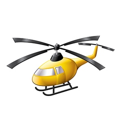 Helicopter isolated vector
