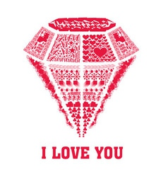 I love you valentine vector