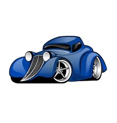 Street rod coupe cartoon vector