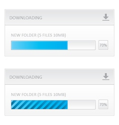 Downloading progress bar vector