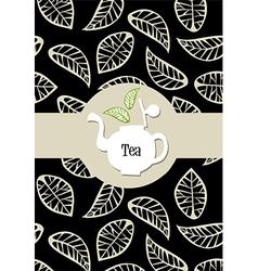 Tea package label vector