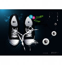 Athletic shoes sneakers vector