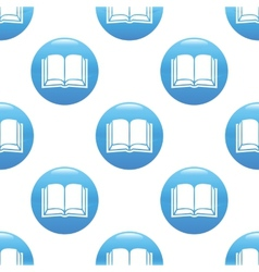 Book sign pattern vector