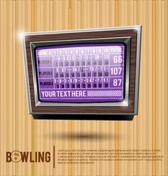 Bowling alley scoreboard vector