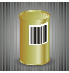 Yellow metal tin can vector