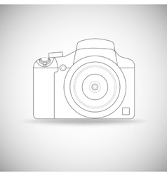Photo camera outline vector