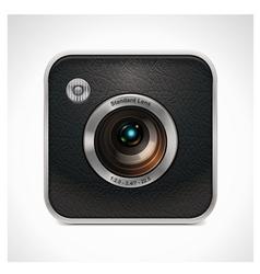 Square retro camera icon vector