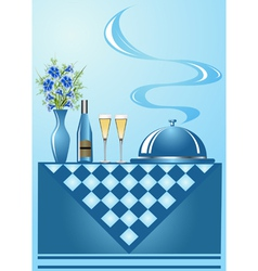 Dinner background vector