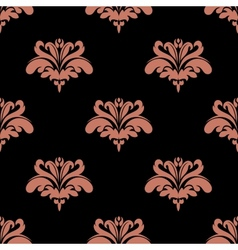 Seamless pattern with pink floral elements vector