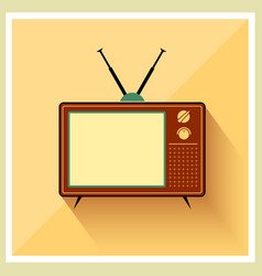 Retro crt tv receiver vector
