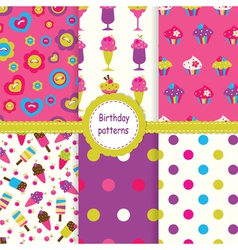 Set of birthday patterns vector