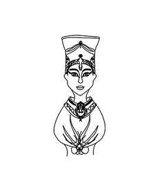 Head of egyptian queen cleopatra vector