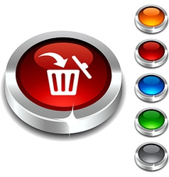 Delete 3d button vector
