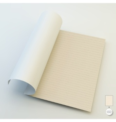 Seamless lined paper 3d vector