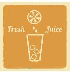 Juice retro poster orange vector