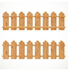Wooden fence from short planking vector