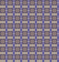 Seamless checkered pattern purple and beige vector