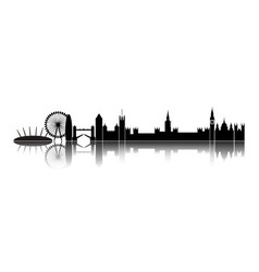 Skyline london city vector