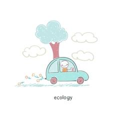 Eco car vector