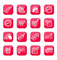 Online shopping icon set vector