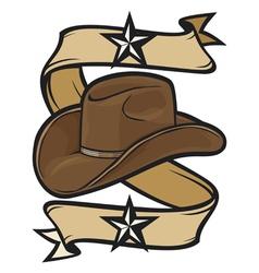 Cowboy hat design vector