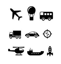 Transport icons set vector